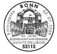 Ersttagsstempel Königslinie Bonn