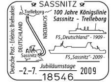Stempel Sassnitz 02.07.09