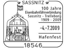 Stempel Sassnitz 04.07.09